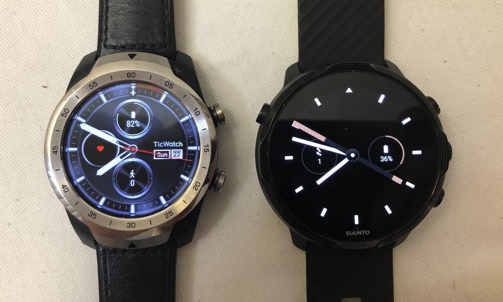 suunto 7 vs ticwatch pro watch faces