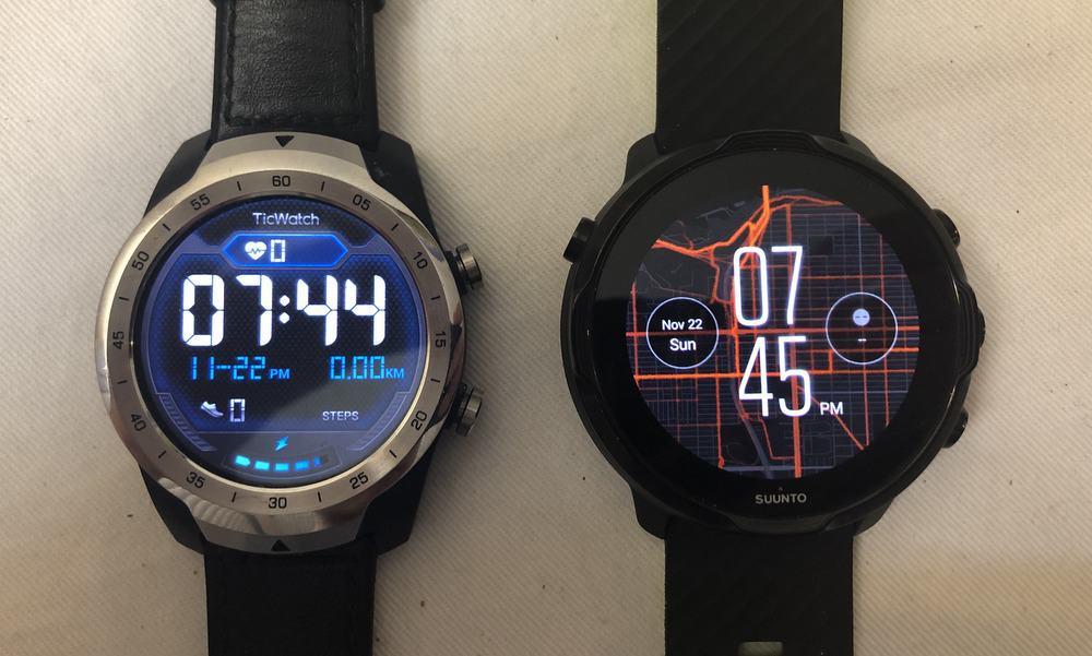 Suunto 7 vs Ticwatch Pro (Flagship Wear OS watches)