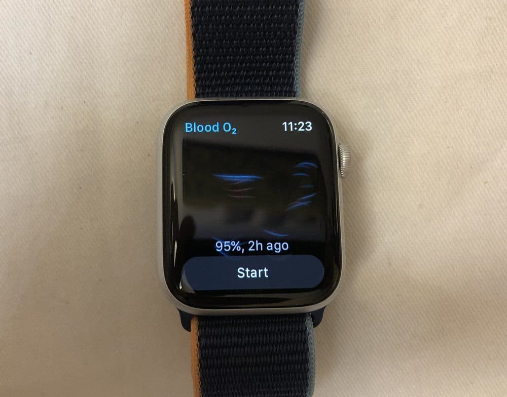 Apple Watch Series 6 blood o2 app