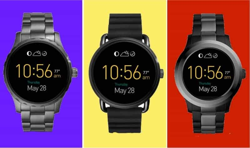 Fossil Q Watches side by side.
