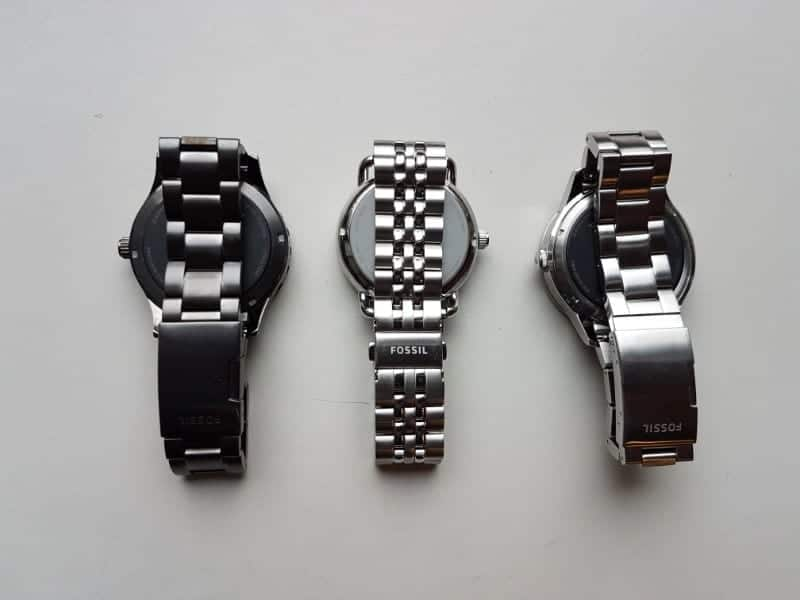 Fossil Q smartwatches showcasing their different straps.