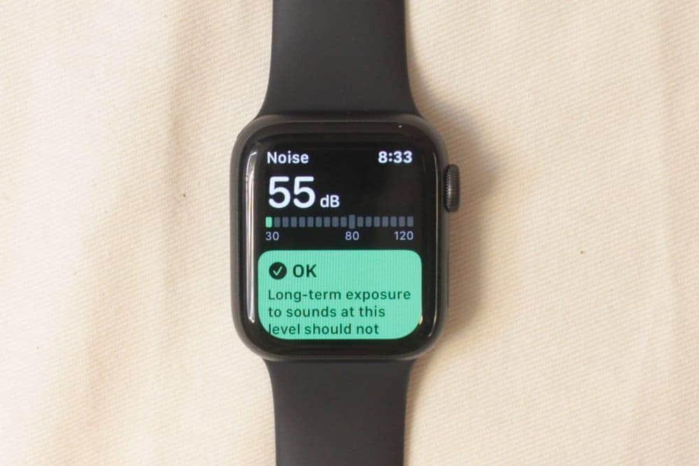 Apple Watch Series 5 noise meter