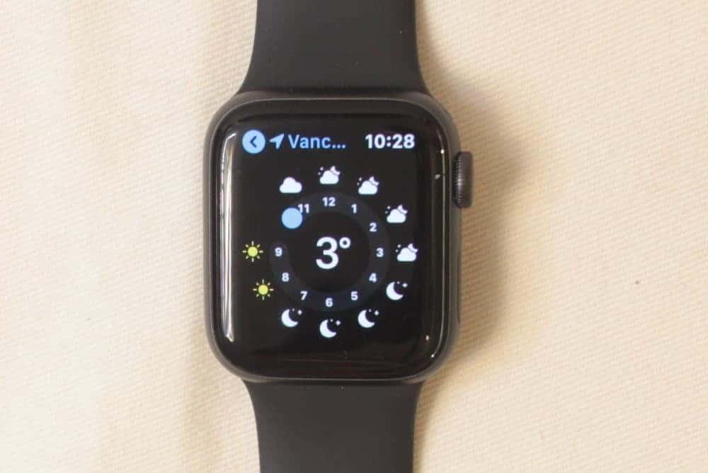 apple watch series 5 weather