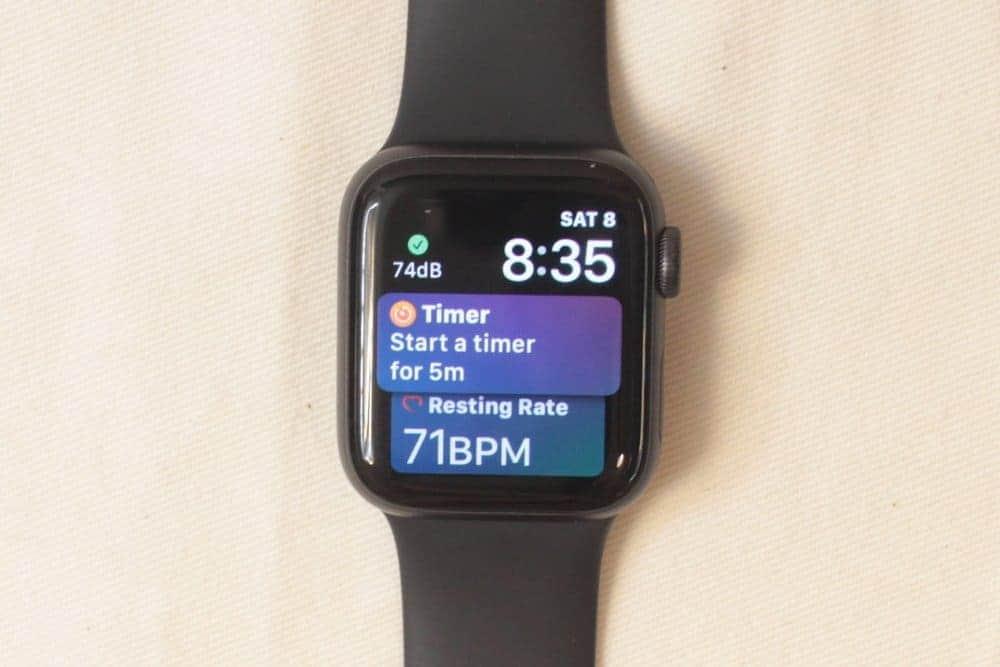Apple Watch Series 5 timer start