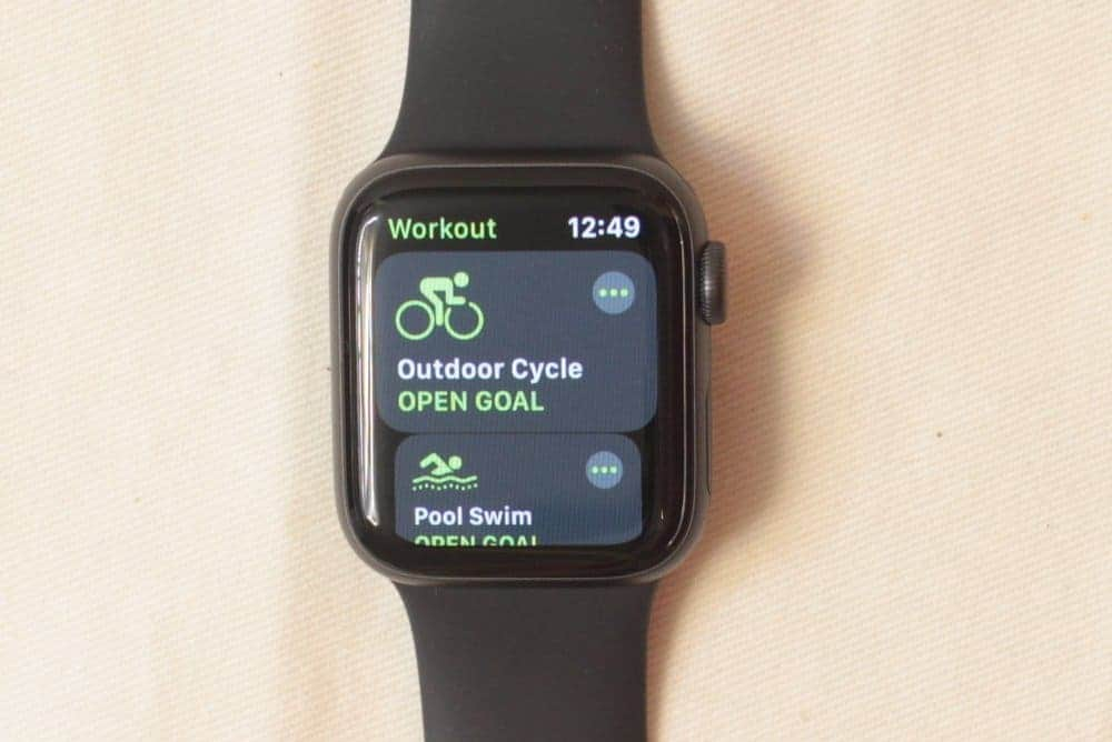 apple watch series 5 workout
