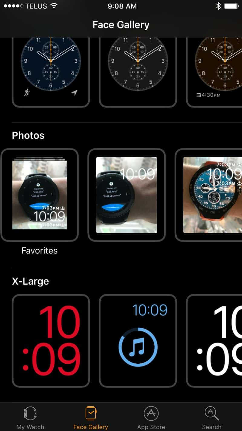 customize face gallery section for the Apple watch.