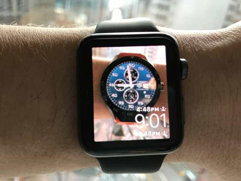 Apple watch with the TAG Heuer watch face