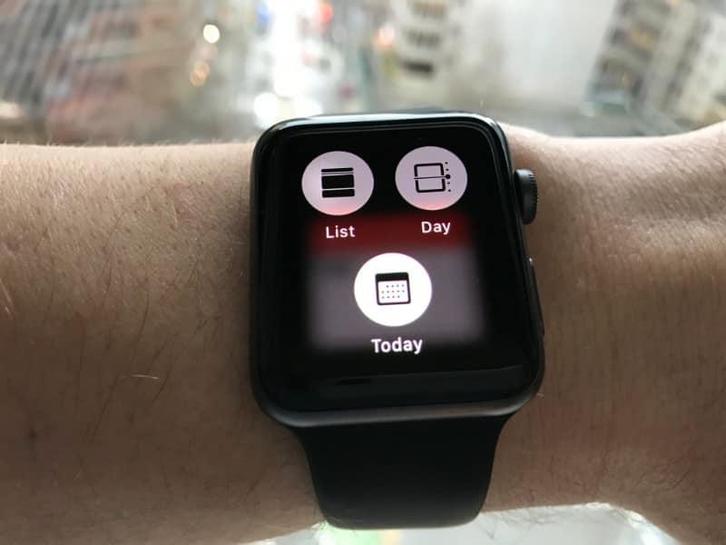 Calendar for Apple Watch Series 2.