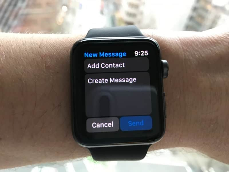 Messaging for Apple Watch Series 2.