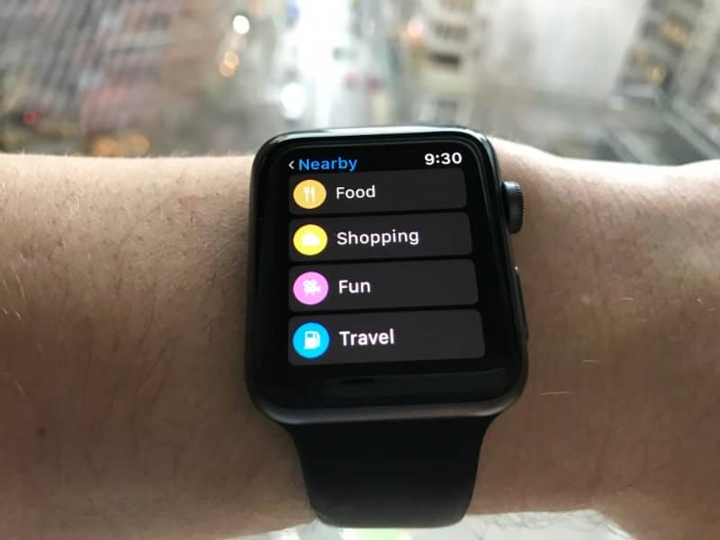 Maps for Apple Watch Series 2.