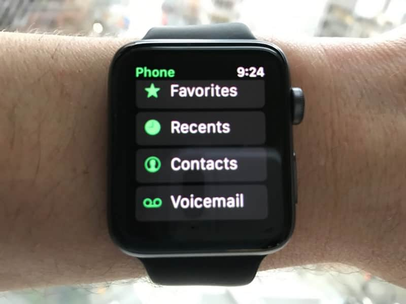 The phone app for Apple Watch Series 2.