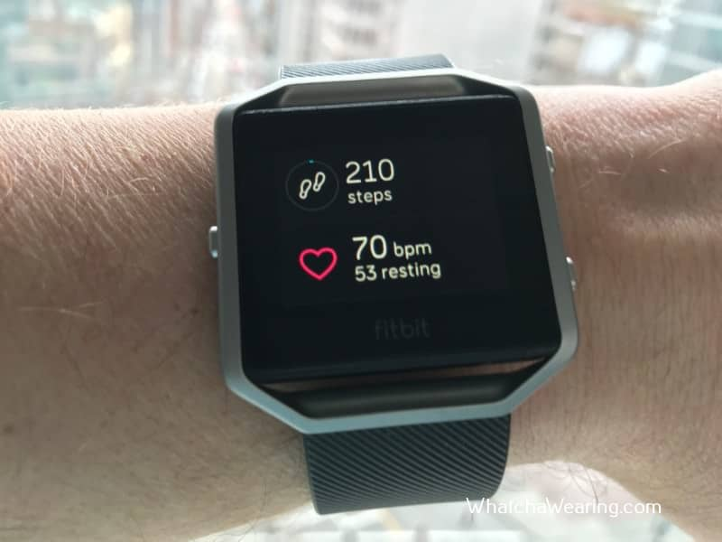 The Fitbit Blaze Heart Rate Monitor.
