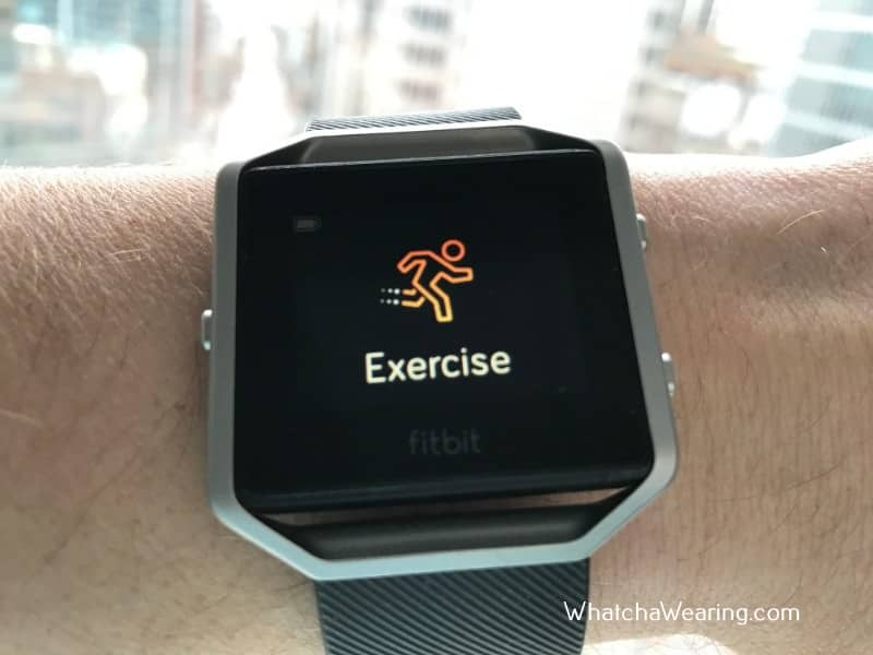 The Fitbit Blaze Exercise tracking.