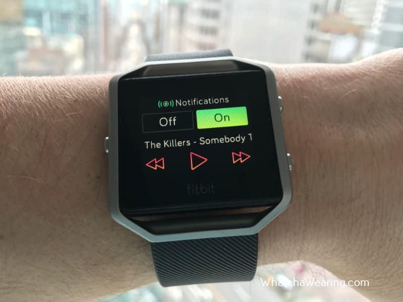 The Fitbit Blaze Music.
