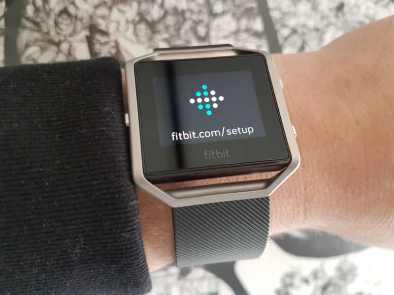 The Fitbit Blaze showcasing the design.