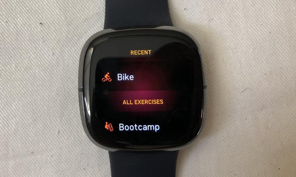 fitbit sense workout tracker