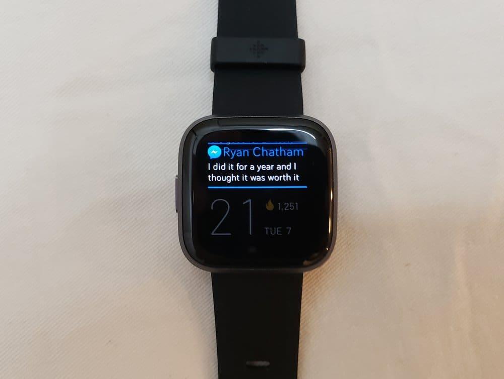 Fitbit Versa 2 notifications