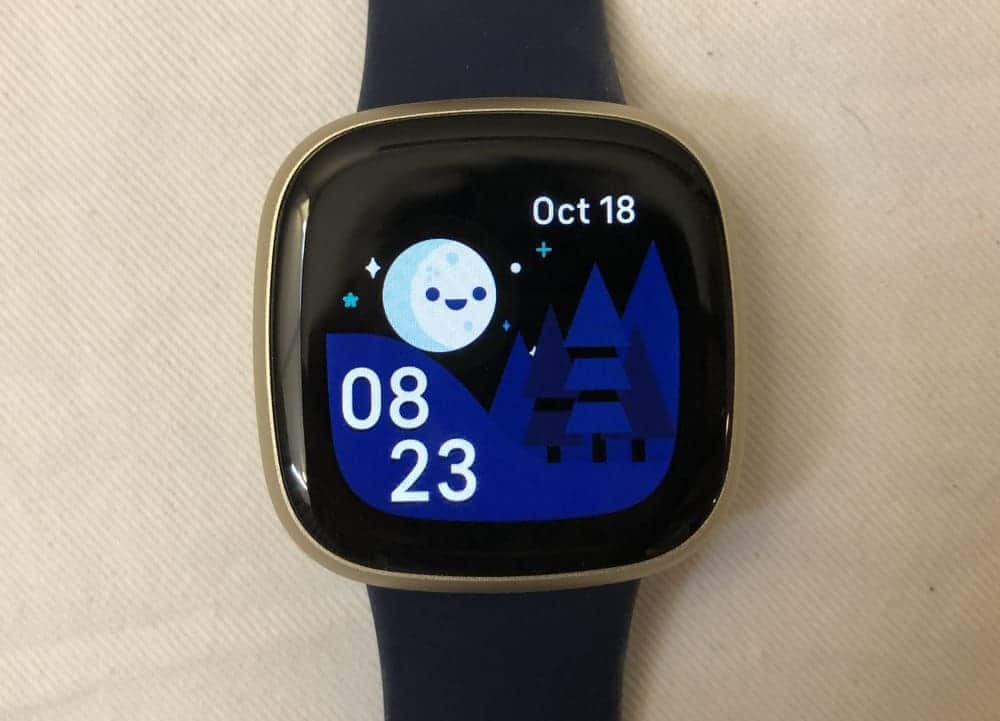fitbit versa 3 watch face