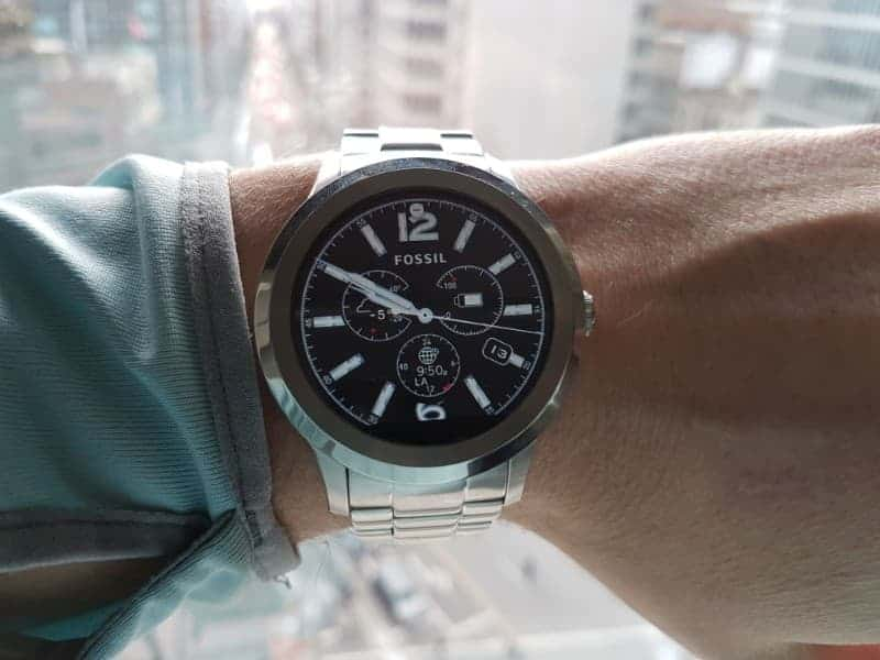 Fossil Q Founder 2.0 face.