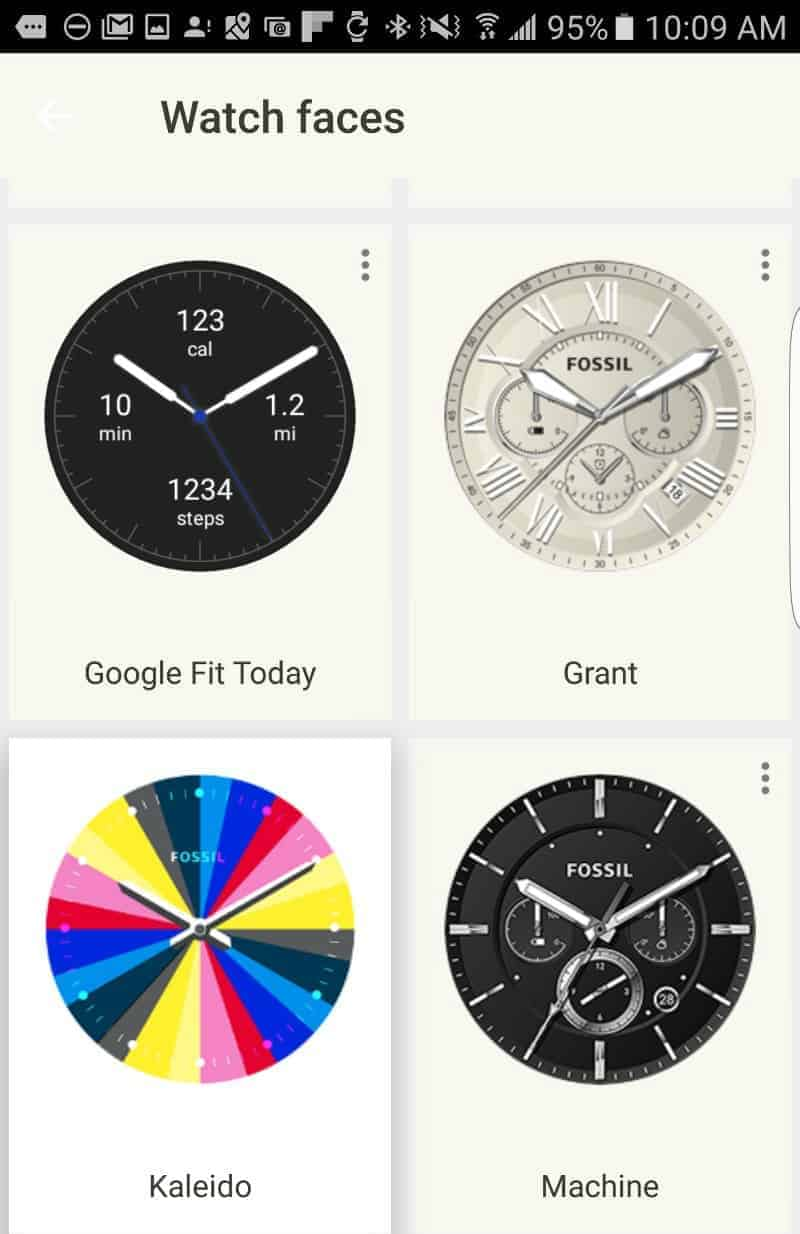 Fossil Q Founder 2.0 watch faces.
