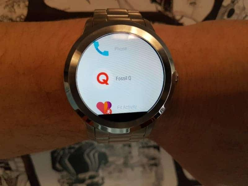 Fossil Q Founder 2 smartwatch options navigatoin