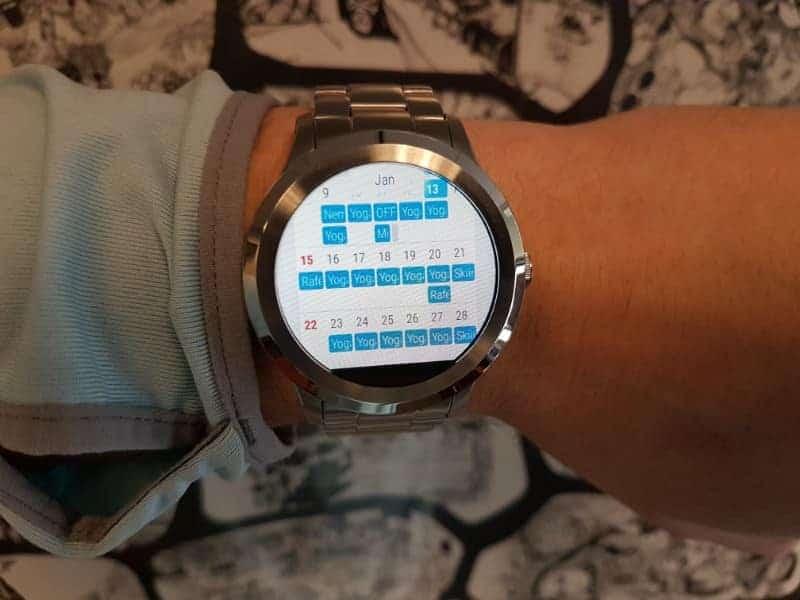 Fossil Q Founder 2 smartwatch calendar