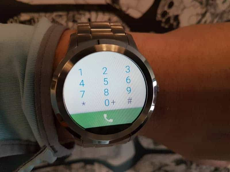 Fossil Q Founder 2 smartwatch phone dial pad