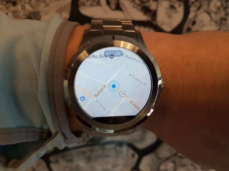 Fossil Q Founder 2 smartwatch map