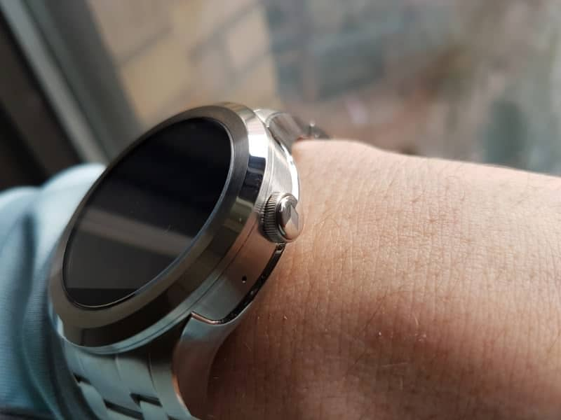 Button view of the Fossil Q Founder 2 smartwatch