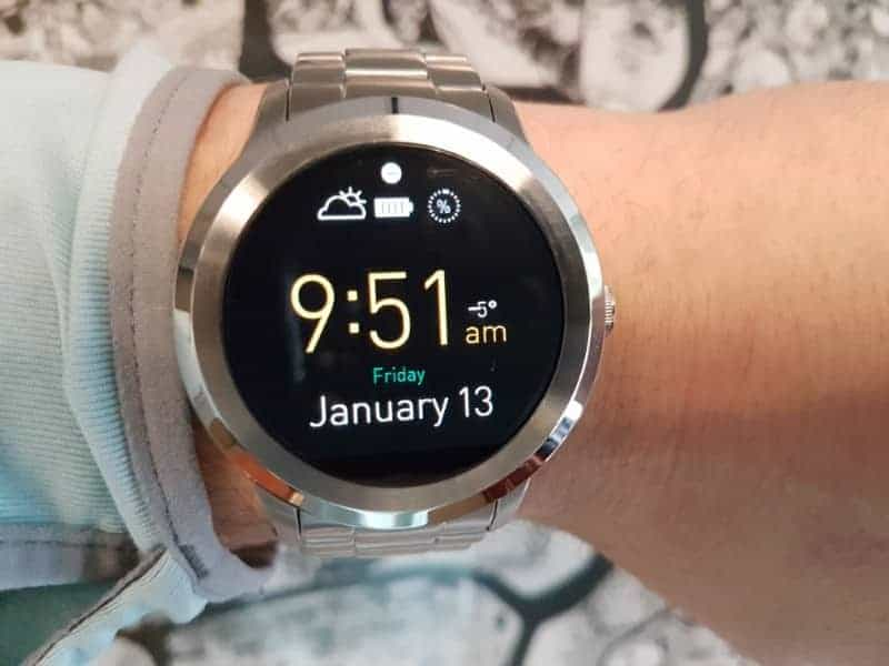 Digital screen option for the Fossil Q Founder 2 smartwatch
