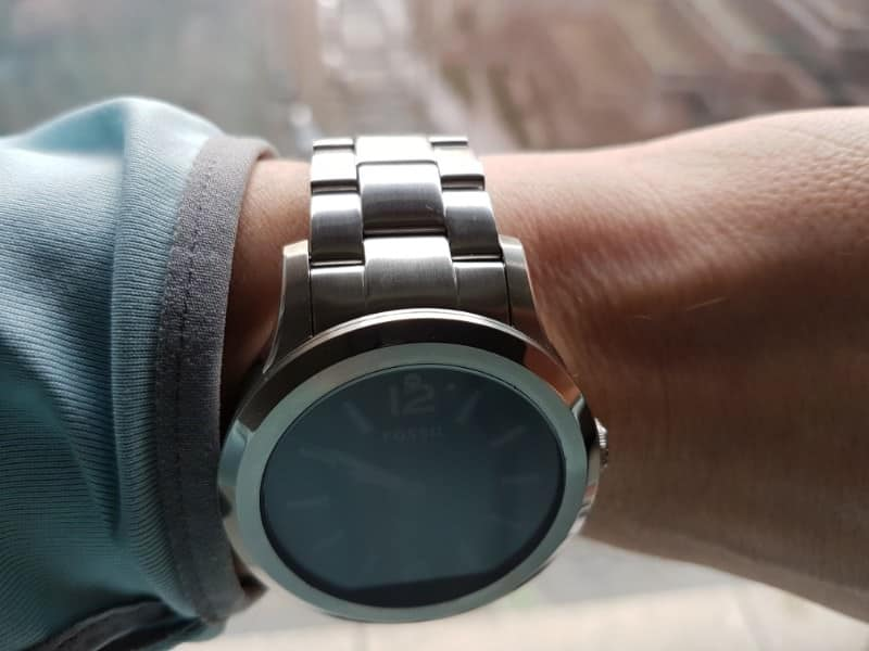 Top side view of the Fossil Q Founder 2 smartwatch