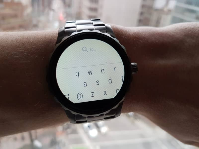 Fossil Q Marshal Smartwatch with keypad.