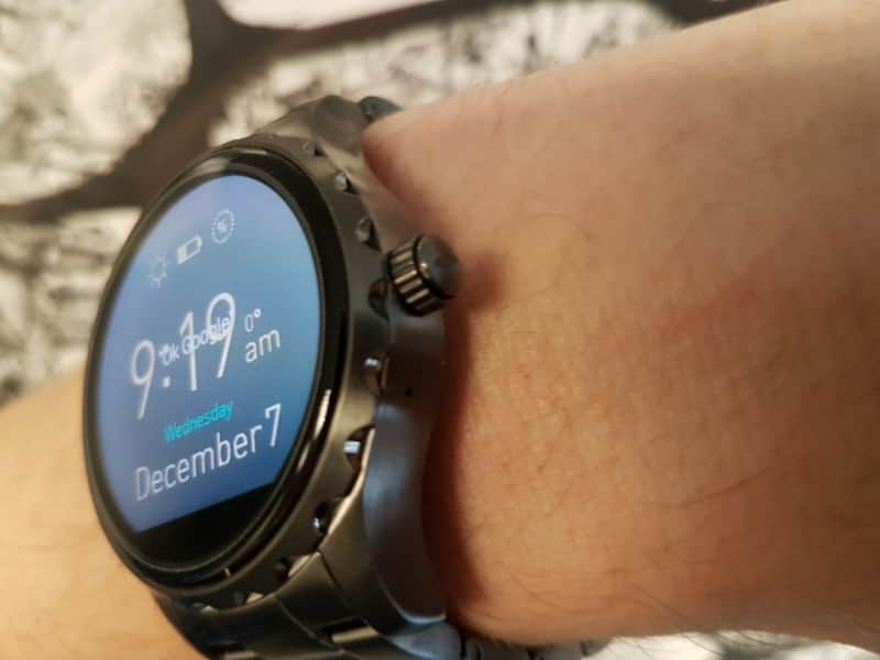Fossil Q Marshal Smartwatch with date.