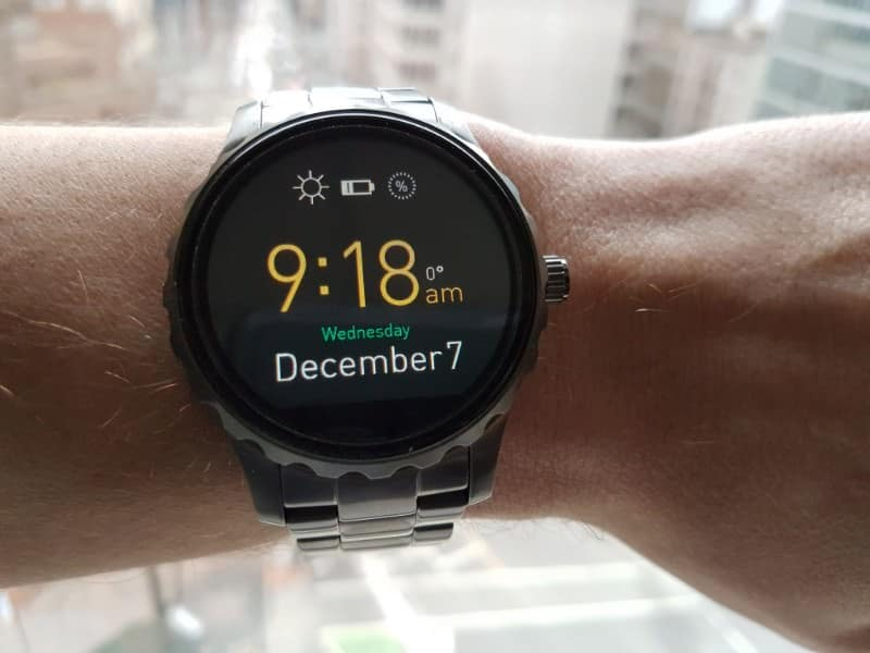 Fossil Q Marshal Smartwatch face. with date.