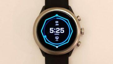 Fossil Sport Smartwatch main screen