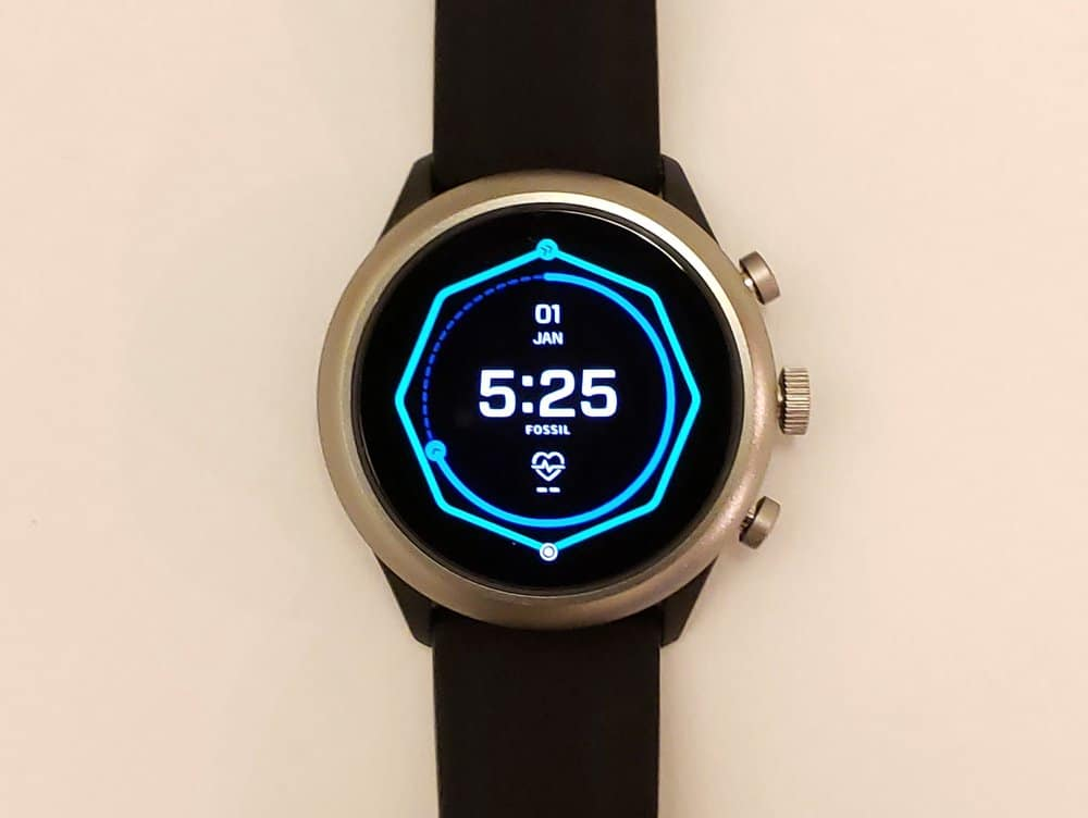 Fossil Sport Smartwatch main screen