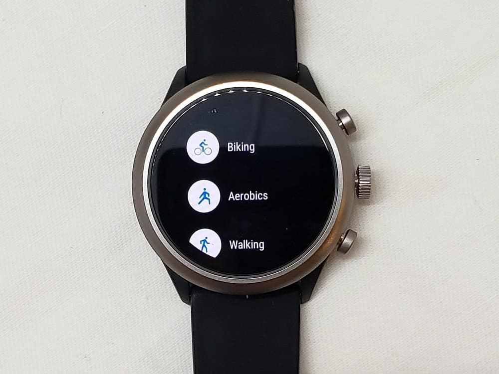 Fossil Sport Smartwatch activities
