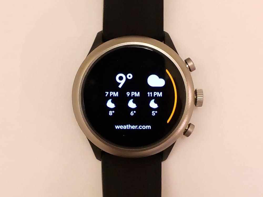 Fossil Sport Smartwatch weather app