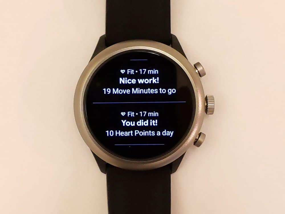 Fossil Sport Smartwatch Google Fit reminders