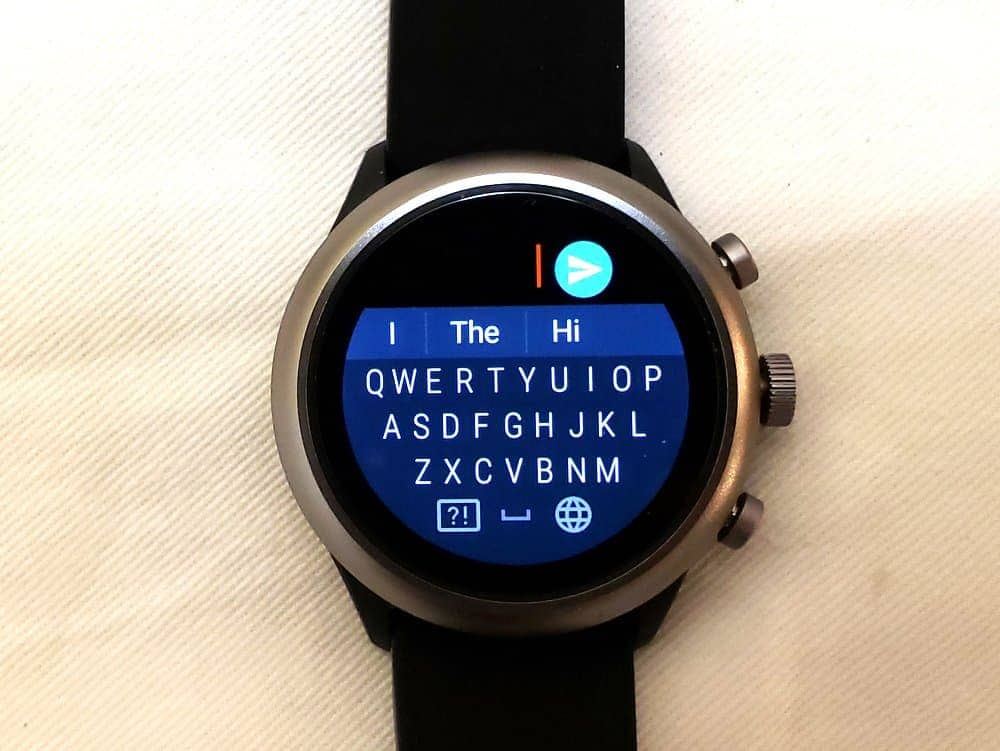 Fossil Sport Smartwatch keyboard