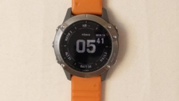garmin fenix 6 main screen