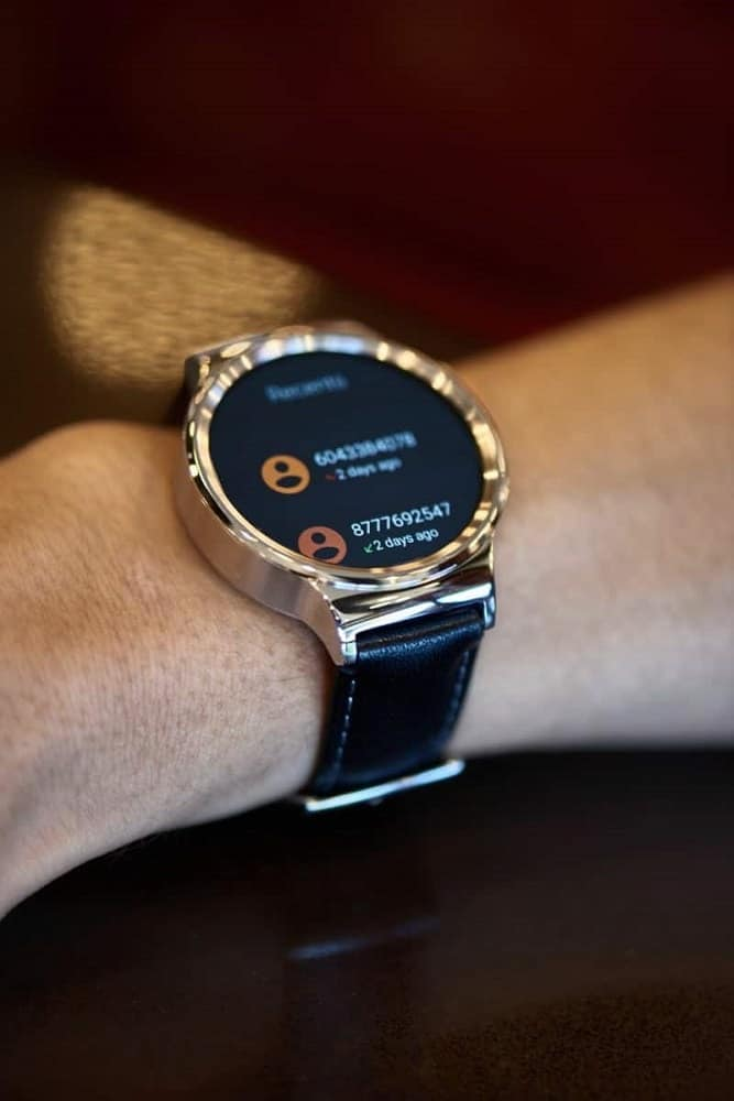 Huawei smartwatch navigation screen