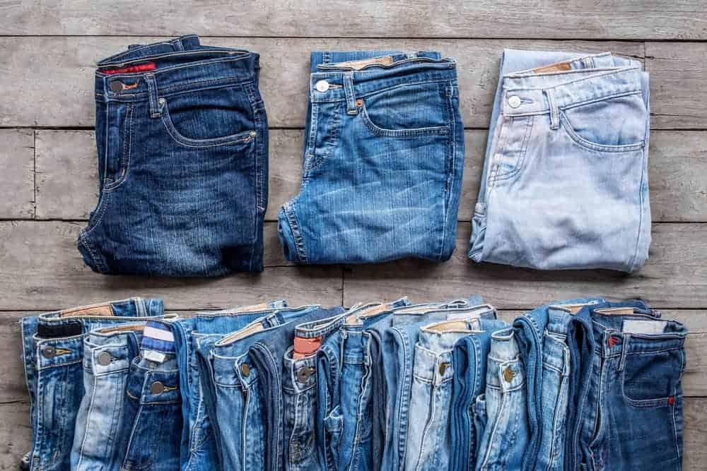 Variety of jean colors