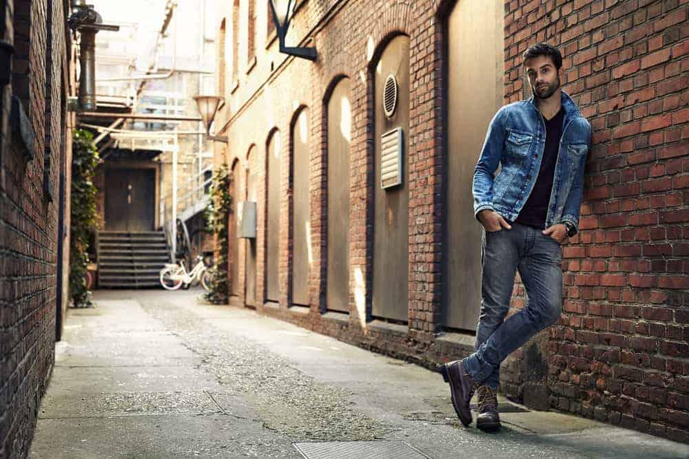 man wearing jeans
