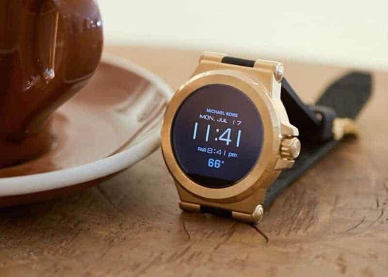 Michael Kors smartwatch on the table
