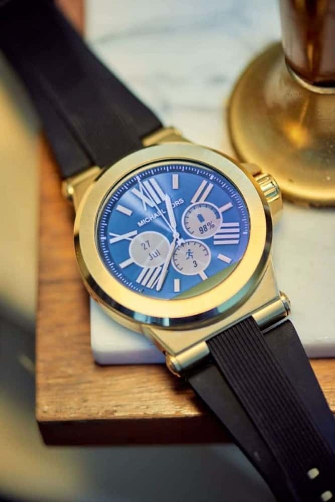 Elegant Michael Kors watch face design.