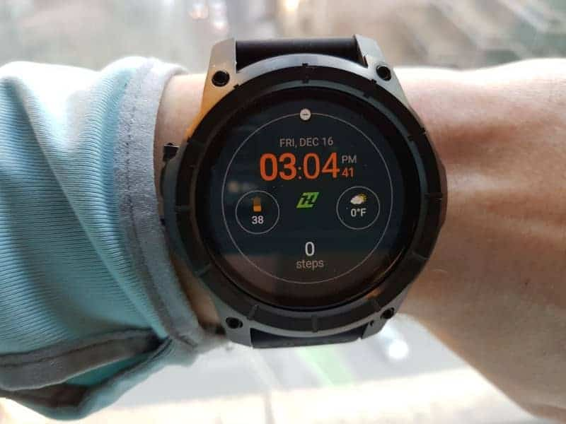 Nixon the Mission Smartwatch display.