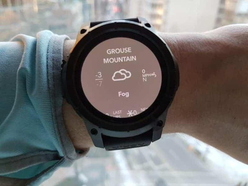 Nixon the Mission Smartwatch Ski Conditions.