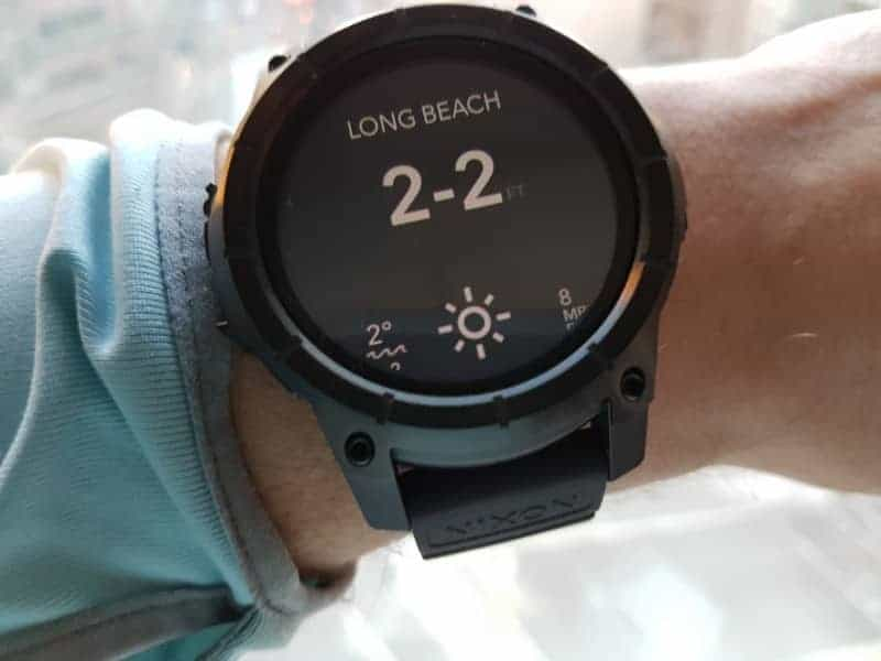 Nixon the Mission Smartwatch Surf Spot Conditions.