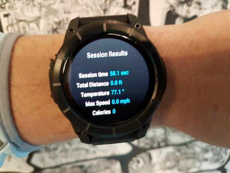 Nixon the Mission Smartwatch Session Results.